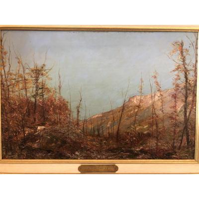 Huile Sur Panneau S. Toudouze(1850-1909)