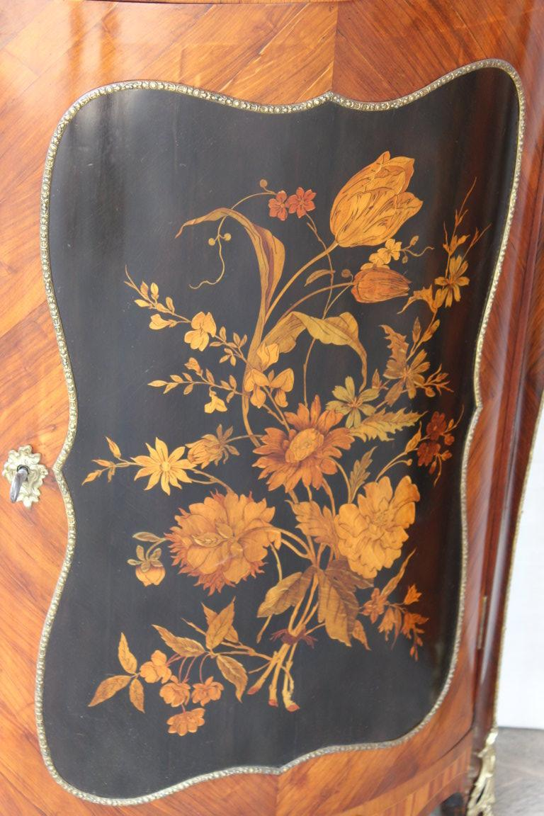 Pair Of Corner Period Napoleon III In Marquetry