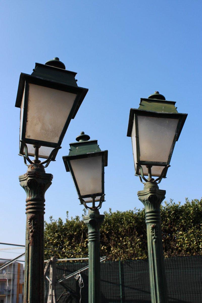 4 Floor Lamps Jardine Cast Iron XX Century-photo-1