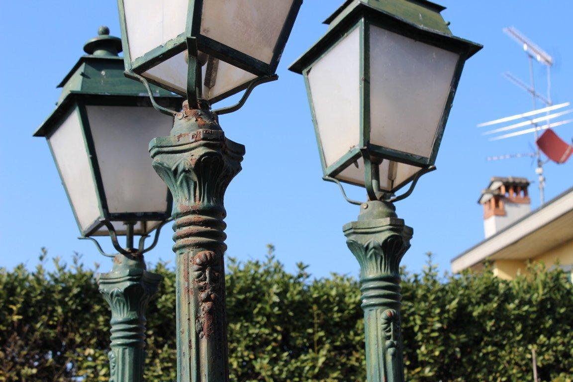4 Floor Lamps Jardine Cast Iron XX Century-photo-3