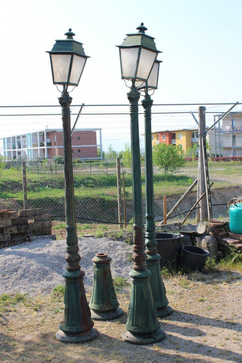 4 Floor Lamps Jardine Cast Iron XX Century