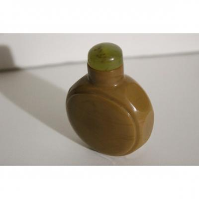 Chinese Tabatiere (snuff Bottle) Faceted Glass Fine XIX Century