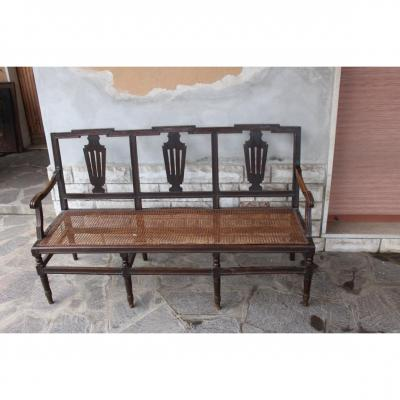 Bench Louis XVI Italian Walnut