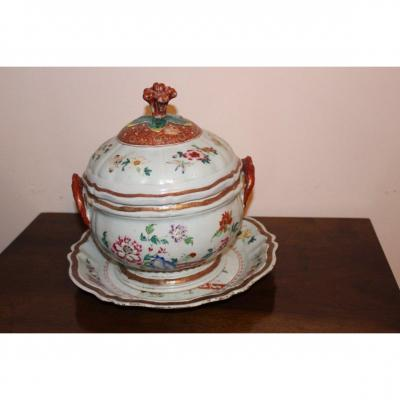 Soupierè / Terrine Porcelain From China Rose Family Qianlong Eighteenth Century
