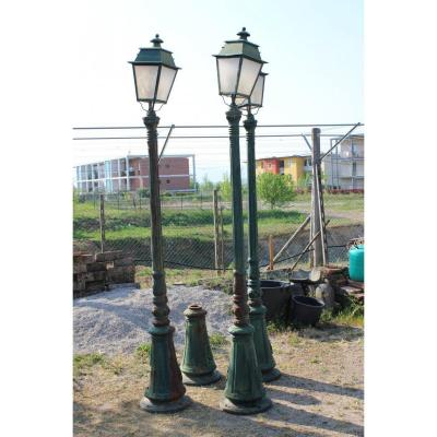 4 Floor Lamps Jardine Cast Iron XX Century