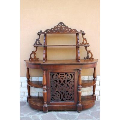 Furniture Italian Shelf Louis Philippe XIX Century