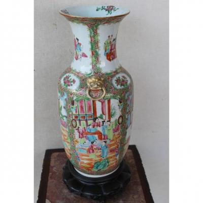 Vase Chinois Canton Fine XIX Siecle
