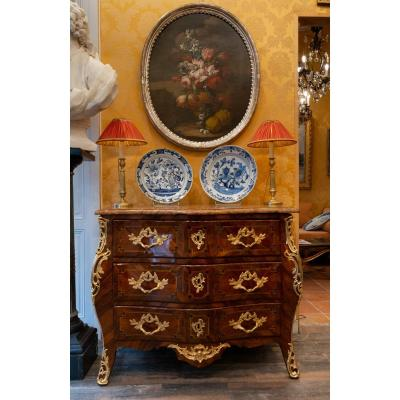 Mid-18th Century French Louis XV Period Kingwood And Rosewood Commode Circa 1750