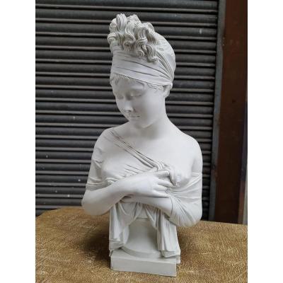 Porcelaine Madame De Recamier Sèvre Signé Houdon