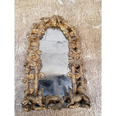 Petit Miroir De Chambre En Bronze
