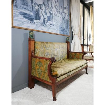 Demay Jbb: Empire-consulate Period Sofa, Return From Egypt 1800.
