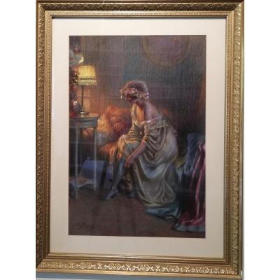 Enjolras Delphin: Large Signed Pastel