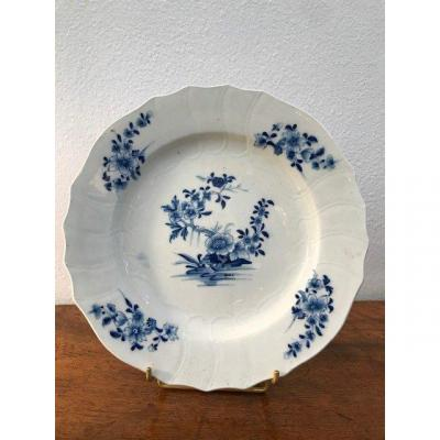 Tournai - Soft Porcelain Plate From The XVIIIth Century