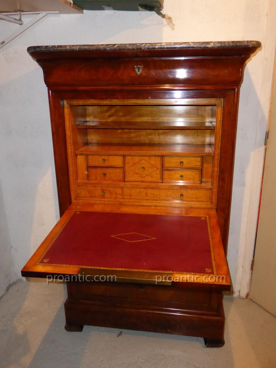 secretaire louis philippe secretaires. Black Bedroom Furniture Sets. Home Design Ideas