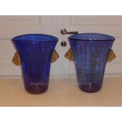 Paires Des Vases Murano