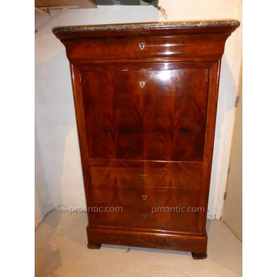 secretaire ancien sur proantic louis philippe restauration charles x. Black Bedroom Furniture Sets. Home Design Ideas