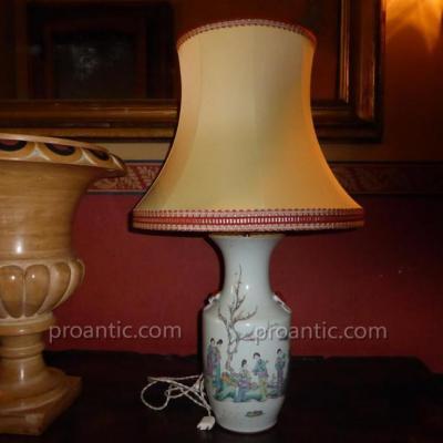 Lampe En Porcelaine De Chine XIXème