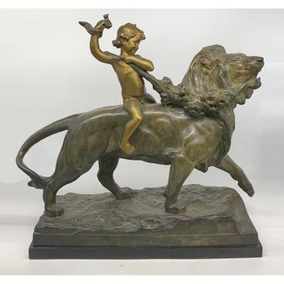 Magnificent Patinated Bronze Plaster - France, Early 20th Century