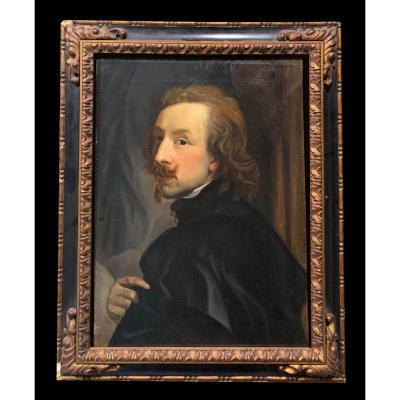 Êcole Française (fin XIXème) - Autoportrait d'Antoine Van Dyck