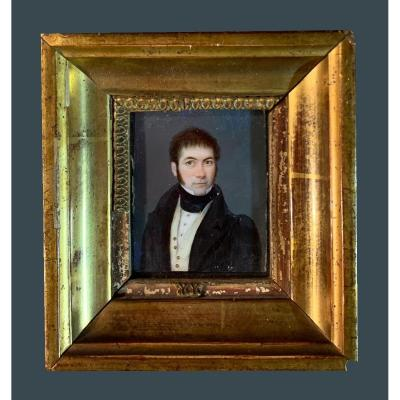 French School (mid 19th Century) - Beautiful Miniature Portrait