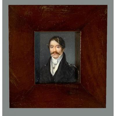 French School (early 19th Century) - Miniature Portrait