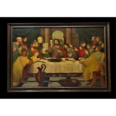 Spanish School (late 19th Century) - Monumental Copy Of The Holy Communion By Joan De Joanes