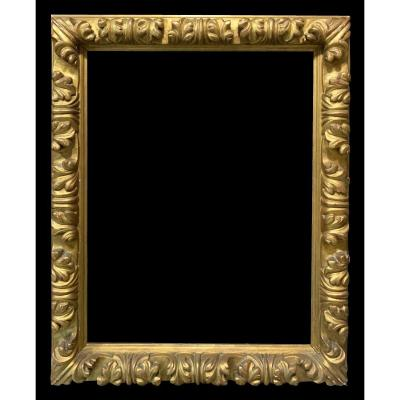 Magnificent Rocaille Frame In Carved And Gilded Wood - Spain, XIXth