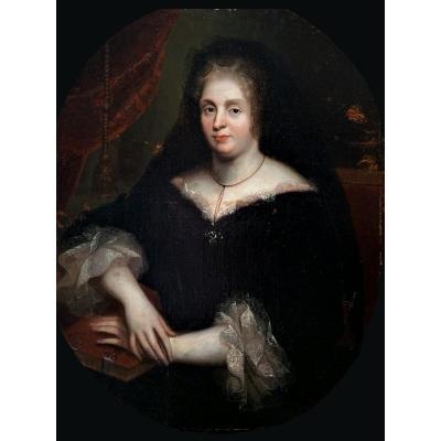 Ecole Française Du 17è Siècle-cercle De Pierre Mignard (1612-1695) - Madame De Maintenon, Veuve