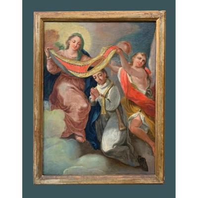 Êcole Espagnole (xviiième) - Imposition Du Chasuble à St. Ildéphonse