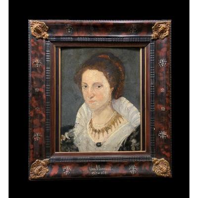 Êcole Flamande Ancienne - Portrait De Dame