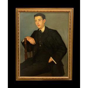 Genaro Lahuerta (1905-1985) - Portrait De Jeune Homme