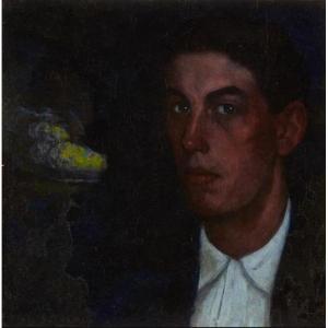 Valentín De Zubiaurre (1879-1973) - Magnifique Portrait De Jeune Basque