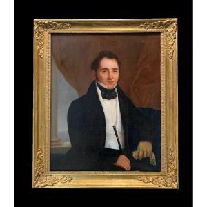 French School (c. 1860) - Portrait Of Gentleman