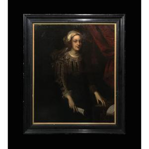 Flemish School (early 17th Century) - Magnificent Portrait Of Woman