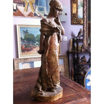 Sculpture Terre Cuite Belle élégante ROME Luigi Preatoni 1880