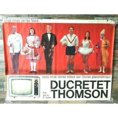 Grande Affiche 1950 Ducretet Thomson 160 X 120