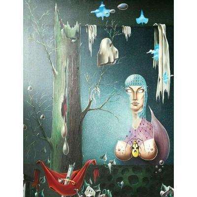 l'Ernout Jean-claude (1939-2016) Surréalisme Belge Magritte Dali symbolisme