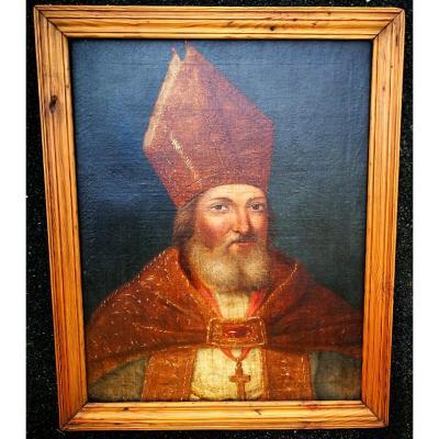 Portrait Of St Fulcran Bishop Of Lodève 17th