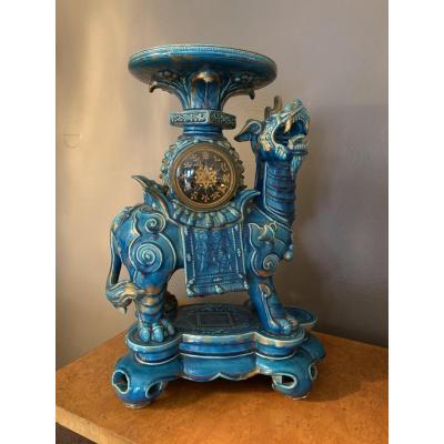 Rare Dragon Clock In Longwy