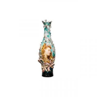 Exceptionnel Vase Barbotine Gien Et E. Clair Guyot 1903.