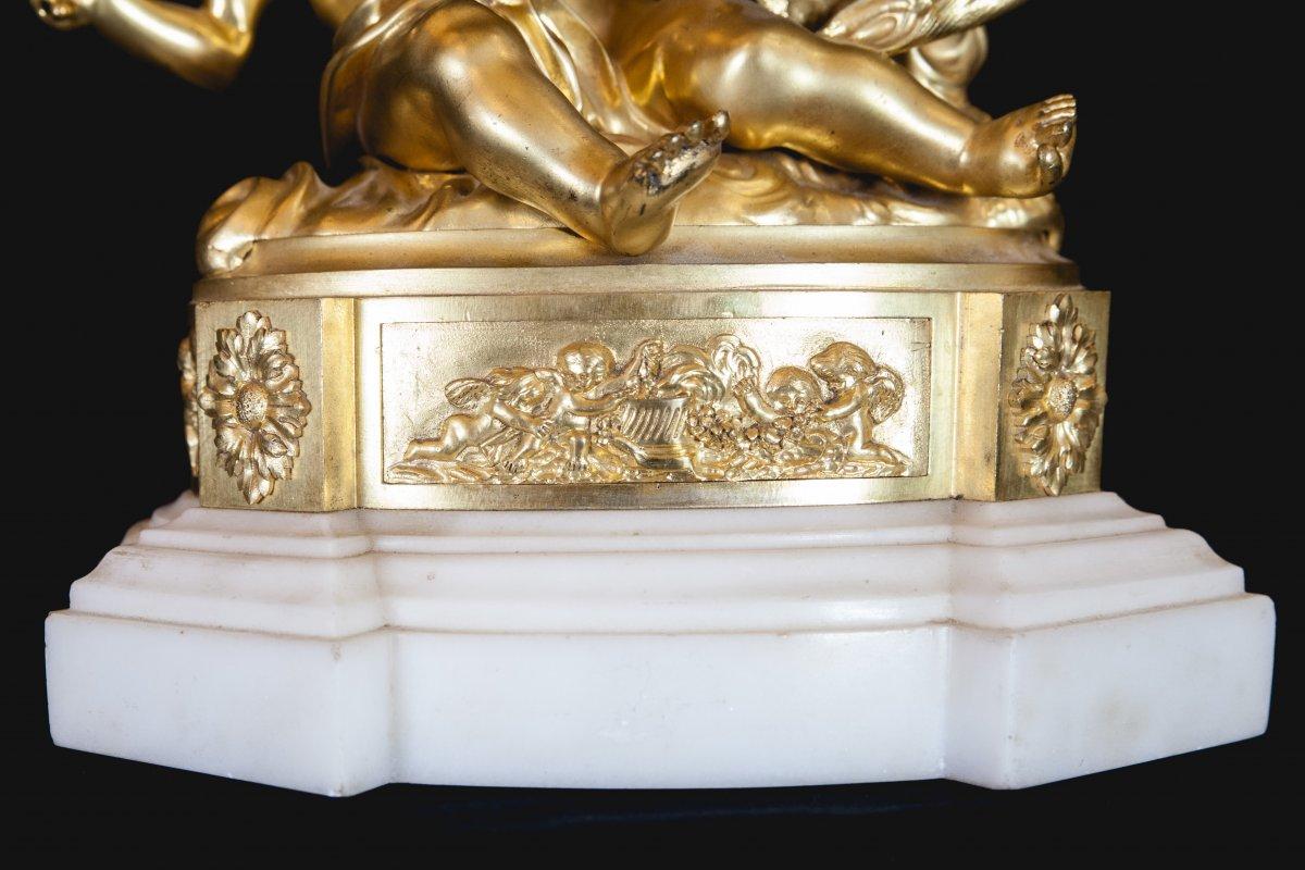 Pendule Louis XVI Au Putti-photo-3