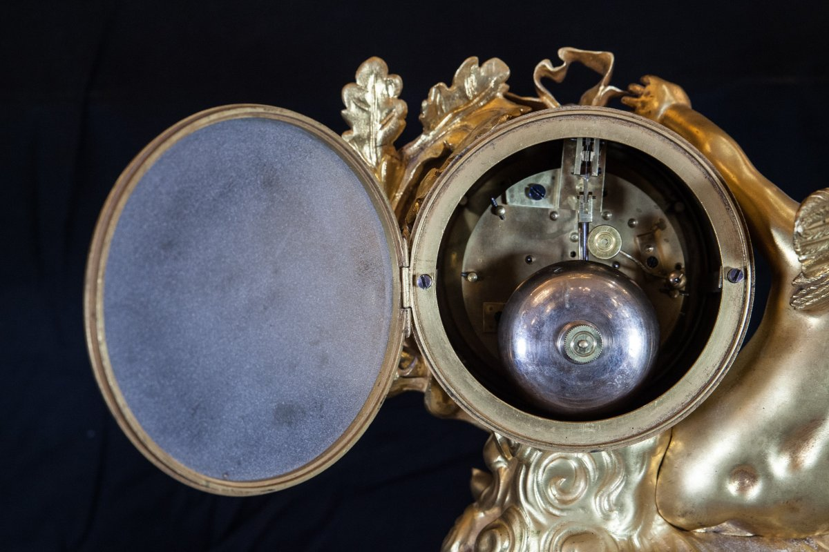 Pendule Louis XVI Au Putti-photo-6