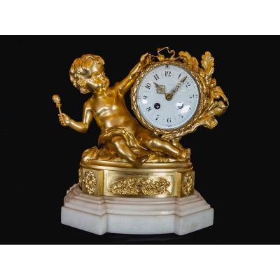 Louis XVI Pendulum Au Putti