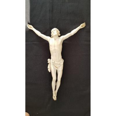 Large Ivory Christ From Dieppe 18th