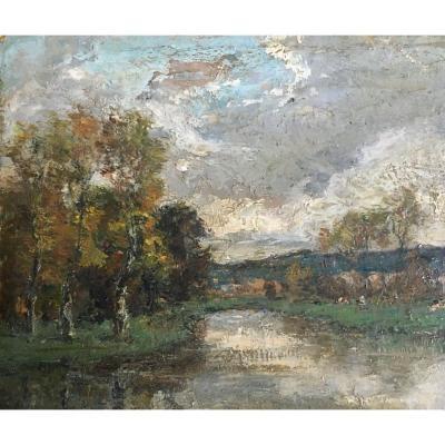 Paysage Du Lyonnais Par Louis-hilaire Carrand (1821-1899)