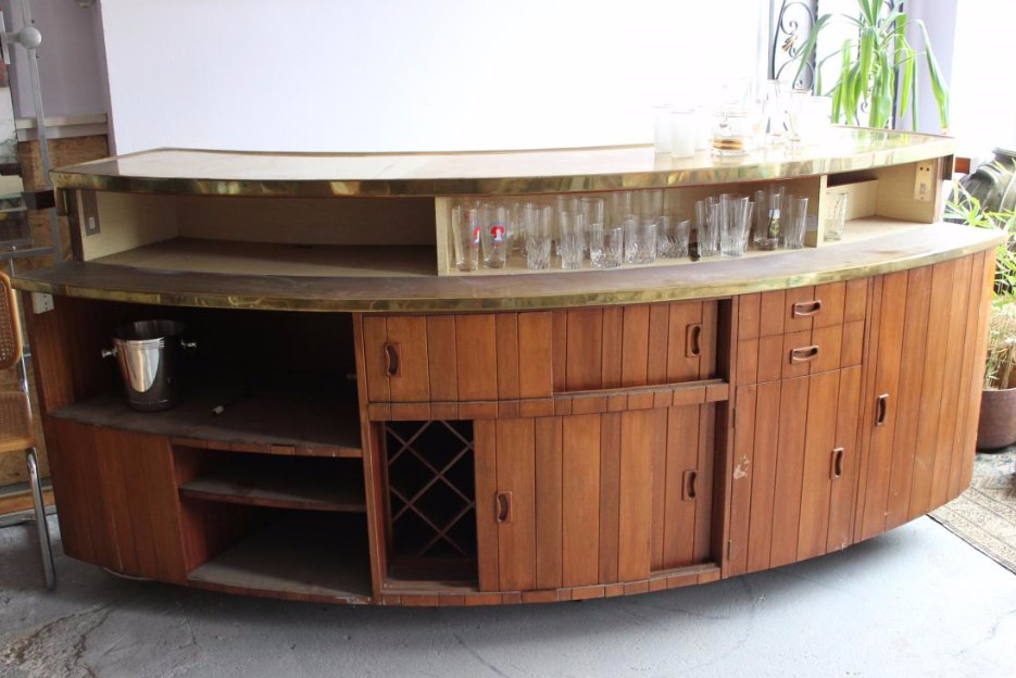 bar comptoir vintage bars anciens. Black Bedroom Furniture Sets. Home Design Ideas