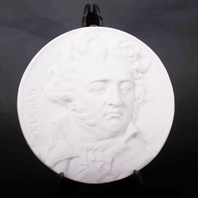 Kleber Medallion Porcelain After David Of Angers