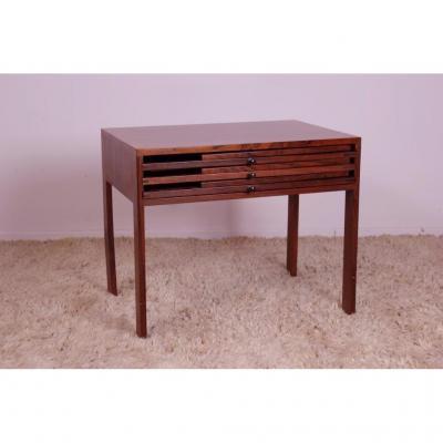 Scandinavian Rosewood Table Illum Wikkelso Denmark