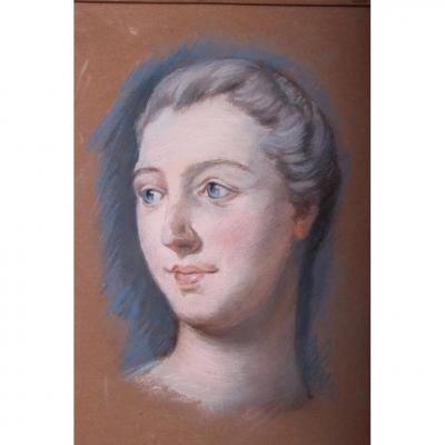 Pastel Marquise De Pompadour Suiveur De Quentin De La Tour