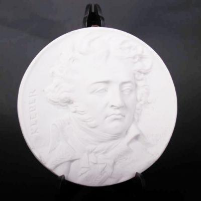Kleber Medallion Porcelain After David Of Angers